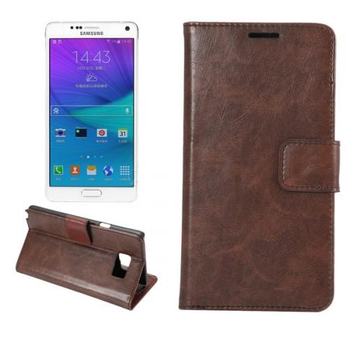 Чехол портмоне подставка на пластиковой основе для Samsung Galaxy Note 5