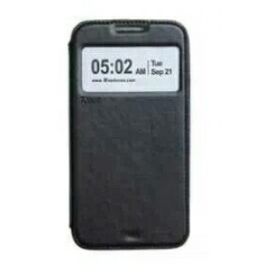 Чехол флип подставка на силиконовой основе с окном вызова и отделением для карт для Samsung Galaxy Note 5