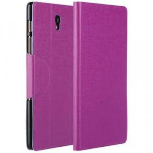 Чехол подставка на пластиковой основе со слотом для карт и застежкой текстурный Silk для Samsung Galaxy Tab S 8.4 Фиолетовый