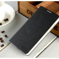 Текстурный чехол флип подставка на пластиковой основе с отделением для карт для Huawei Honor 7 Черный