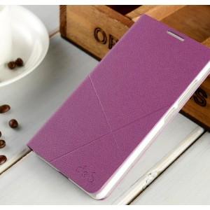 Текстурный чехол флип подставка на пластиковой основе с отделением для карт для Huawei Honor 7