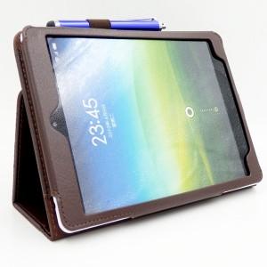 Чехол подставка с рамочной защитой экрана для Xiaomi MiPad Коричневый