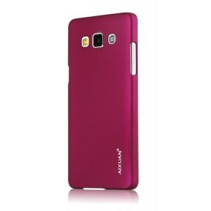Пластиковый матовый металлик чехол для Samsung Galaxy A5 Фиолетовый