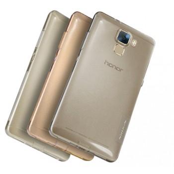 Силиконовый матовый полупрозрачный чехол повышенной ударостойкости для Huawei Honor 7