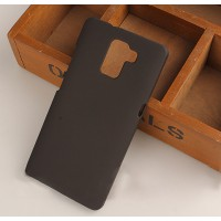 Пластиковый матовый непрозрачный чехол для Huawei Honor 7 Черный