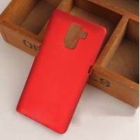 Пластиковый матовый непрозрачный чехол для Huawei Honor 7 Красный