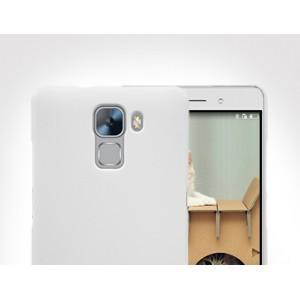Пластиковый матовый нескользящий премиум чехол для Huawei Honor 7 Черный
