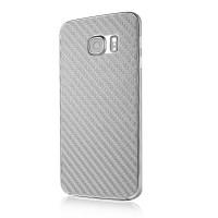 Армированная карбоновая защитная пленка на заднюю поверхность смартфона для Samsung Galaxy S6 Edge Серый