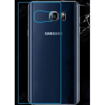 Ультратонкое износоустойчивое сколостойкое олеофобное защитное стекло-пленка на заднюю поверхность смартфона для Samsung Galaxy Note 5