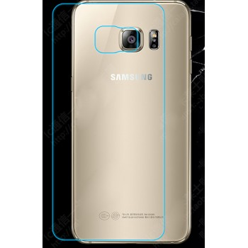 Ультратонкое износоустойчивое сколостойкое олеофобное защитное стекло-пленка на заднюю поверхность смартфона для Samsung Galaxy S6 Edge Plus
