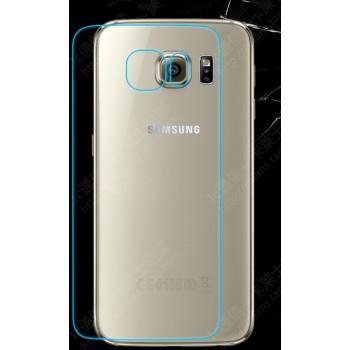 Ультратонкое износоустойчивое сколостойкое олеофобное защитное стекло-пленка на заднюю поверхность смартфона для Samsung Galaxy S6 Edge