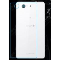Ультратонкое износоустойчивое сколостойкое олеофобное защитное стекло-пленка на заднюю поверхность смартфона для Sony Xperia Z3 Compact