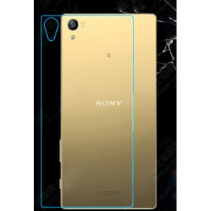 Ультратонкое износоустойчивое сколостойкое олеофобное защитное стекло-пленка на заднюю поверхность смартфона для Sony Xperia Z5 Premium