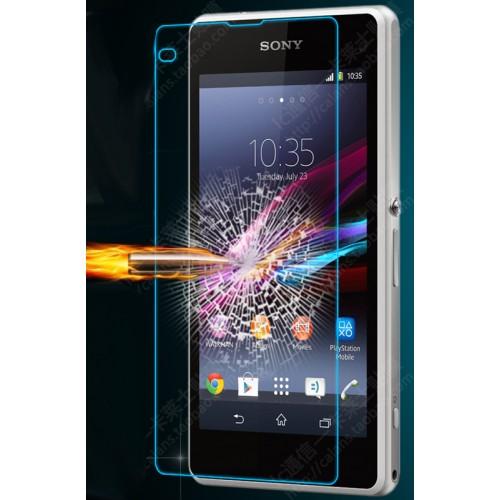 Ультратонкое износоустойчивое сколостойкое олеофобное защитное стекло-пленка на заднюю поверхность смартфона для Sony Xperia Z1 Compact