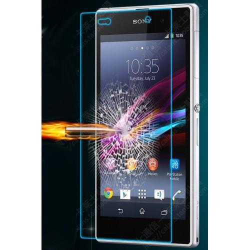 Ультратонкое износоустойчивое сколостойкое олеофобное защитное стекло-пленка на заднюю поверхность смартфона для Sony Xperia Z Ultra