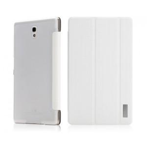 Чехол смарт флип подставка на пластиковой транспарентной основе сегментарный с точечной текстурой для Samsung Galaxy Tab S 8.4