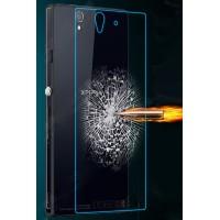Ультратонкое износоустойчивое сколостойкое олеофобное защитное стекло-пленка на заднюю поверхность смартфона для Sony Xperia Z