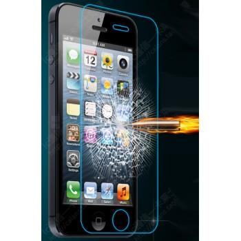 Ультратонкое износоустойчивое сколостойкое олеофобное защитное стекло-пленка для Iphone 5