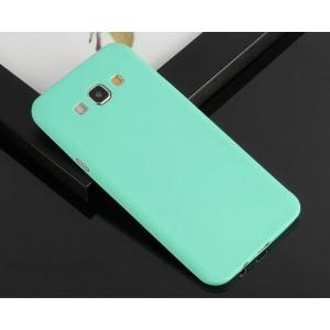 Силиконовый матовый нанотонкий 0.39 мм чехол для Samsung Galaxy E7