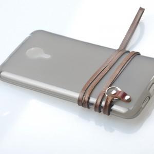 Силиконовый матовый полупрозрачный чехол с шнурком для Meizu MX4 Pro