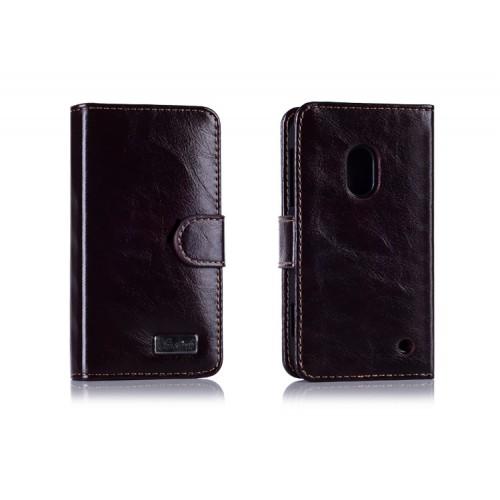 Вощеный чехол портмоне для Nokia Lumia 620