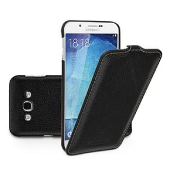 Кожаный чехол вертикальная книжка (нат. кожа) с застежкой для Samsung Galaxy A8