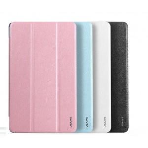 Чехол смарт флип подставка сегментарный на пластиковой транспарентной основе с кожаной текстурой для Samsung Galaxy Tab S 8.4