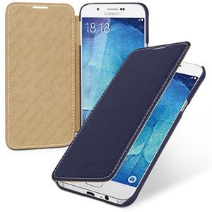 Кожаный чехол горизонтальная книжка (нат. кожа) для Samsung Galaxy A8