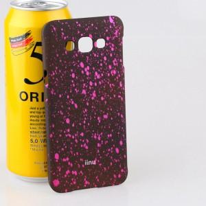 Пластиковый матовый непрозрачный чехол с голографическим принтом Звезды для Samsung Galaxy A8