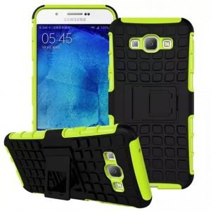 Антиударный силиконовый чехол экстрим защита с подставкой для Samsung Galaxy A8 Зеленый