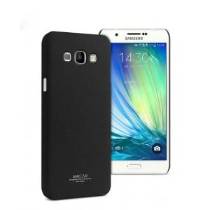 Пластиковый матовый чехол с повышенной шероховатостью для Samsung Galaxy A8