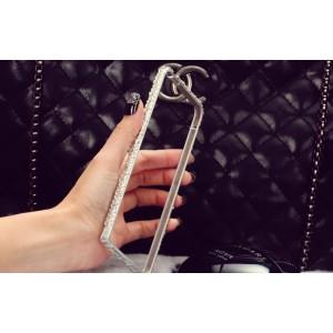 Дизайнерский металлический бампер с инкрустацией стразами и бижутерией ручной работы для Samsung Galaxy A8