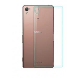 Ультратонкое износоустойчивое сколостойкое олеофобное защитное стекло-пленка на заднюю поверхность смартфона для Sony Xperia Z3+