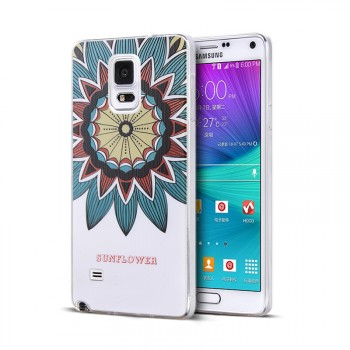 Дизайнерский чехол с объемным рельефным принтом для Samsung Galaxy Note 4