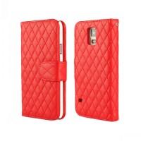 Чехол портмоне подставка с защелкой для Samsung Galaxy Note 4 Красный