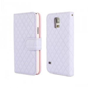 Чехол портмоне подставка с защелкой для Samsung Galaxy Note 4 Фиолетовый