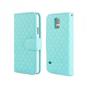 Чехол портмоне подставка с защелкой для Samsung Galaxy Note 4 Синий