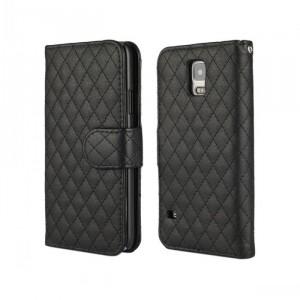 Чехол портмоне подставка с защелкой для Samsung Galaxy Note 4 Черный