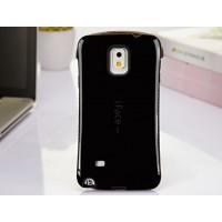 Силиконовый антиударный эргономичный чехол для Samsung Galaxy Note 4 Черный