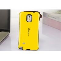 Силиконовый антиударный эргономичный чехол для Samsung Galaxy Note 4 Желтый