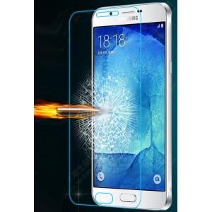 Ультратонкое износоустойчивое сколостойкое олеофобное защитное стекло-пленка для Samsung Galaxy A8