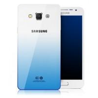 Силиконовый матовый полупрозрачный чехол градиентный для Samsung Galaxy A8