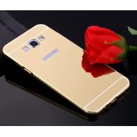 Гибридный металлический двухкомпонентный чехол и поликарбонатной крышкой с зеркальным покрытием для Samsung Galaxy A8