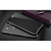 Металлический утратонкий ультралегкий бампер для Samsung Galaxy A8 Черный