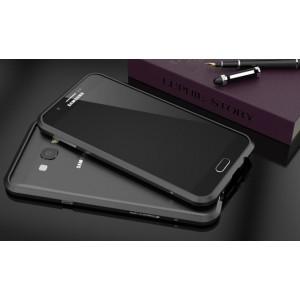 Металлический ультратонкий ультралегкий бампер для Samsung Galaxy A8 Черный
