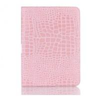 Чехол подставка крокодил для Samsung Galaxy Tab 4 10.1 Розовый