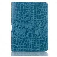 Чехол подставка крокодил для Samsung Galaxy Tab 4 10.1 Синий