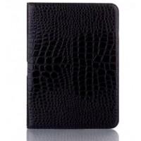 Чехол подставка крокодил для Samsung Galaxy Tab 4 10.1 Черный