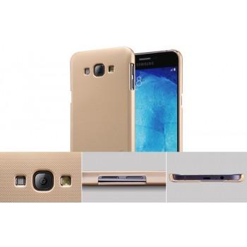 Пластиковый матовый нескользящий премиум чехол для Samsung Galaxy A8
