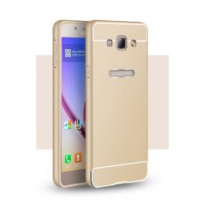 Двухкомпонентный чехол с металлическим бампером и поликарбонатной накладкой для Samsung Galaxy A8